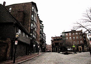 North Square (Boston, Massachusetts) - North Square, Boston, 2010; (Paul Revere's house at left foreground)