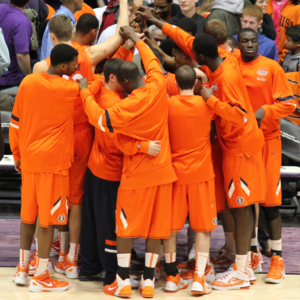2011–12 Illinois Fighting Illini men's basketball team - The 2011–12 Illinois Fighting Illini men's basketball team at Welsh-Ryan Arena in Evanston, Illinois on January 4, 2012.