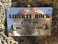 2014-09-25 13 27 05 Plaque on Liberty Rock in Jarbidge, Nevada.jpg