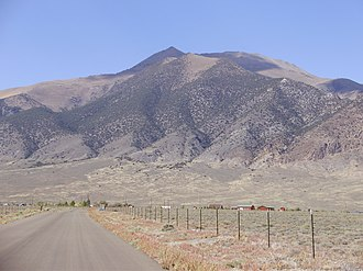 Bunker Hill (Nevada) - View of Bunker Hill from Kingston