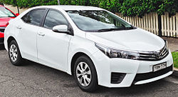 2014 Toyota Corolla (ZRE172R) Ascent sedan (2014-04-11).jpg