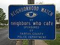 2016-04-22 13 06 14 Neighborhood Watch sign along Allness Lane in the Chantilly Highlands section of Oak Hill, Fairfax County, Virginia.jpg