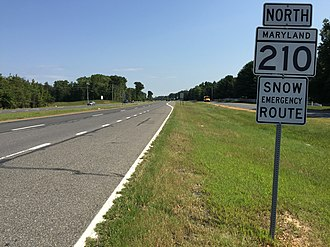 Maryland Route 210 - MD 210 northbound in Accokeek