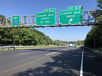 Livingston, New Jersey - I-280 westbound in Livingston