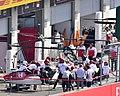 2018 Austrian Grand Prix Sauber box (41304213280).jpg