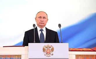Russian presidential inauguration - Putin in his Inauguration, May 7, 2018.