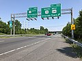 2019-05-19 15 01 00 View east along Interstate 70 at Exit 52A (SOUTH U.S. Route 15, WEST U.S. Route 340, Charles Town) in Ballenger Creek, Frederick County, Maryland.jpg