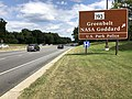 2019-09-08 14 07 54 View north along Maryland State Route 295 (Baltimore-Washington Parkway) at the exit for Maryland State Route 193 (Greenbelt, NASA Goddard, U.S. Park Police) in Greenbelt, Prince George's County, Maryland.jpg