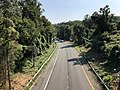 2019-09-11 15 45 37 View southeast along the northwestbound lanes of the Cabin John Parkway (Interstate 495X) from the overpass for the ramp from northbound Interstate 495 to Maryland State Route 190 in Montgomery County, Maryland.jpg
