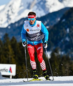 20190303 FIS NWSC Seefeld Men CC 50km Mass Start Denis Spitsov 850 7260 (cropped).jpg