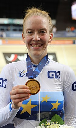 Franziska Brauße with EM gold in the single pursuit (2019)