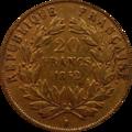 20 francs louis-Napoléon Revers.png