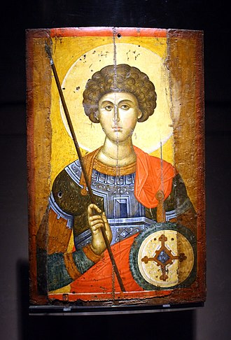 George (given name) - Byzantine icon of Saint George (14th century)