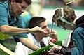 221000 - Boccia June Kaese Angie McReynolds - 3b - Sydney 2000 match photo.jpg