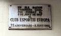 274 Aquí fou fundat el Club Esportiu Europa, c. Sicília 290.JPG