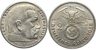 Reichsmark - Image: 2Reichs Mark