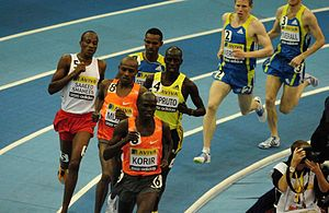Birmingham Indoor Grand Prix - The men's 3000 metres race at the 2010 edition