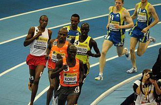 Birmingham Indoor Grand Prix - The men's 3000 metres race at the 2010 edition
