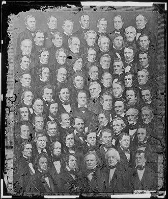 35th United States Congress - Group photo of the U.S. Senate, in 1859, during this Congress.