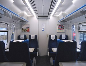 British Rail Class 365 - The interior of the refurbished First Class cabin