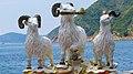 3 Rams at The Kwun Yam Shrine, Hong Kong (23064250364).jpg