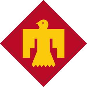 45th Infantry Division (United States) - 45th Infantry Division shoulder sleeve insignia.