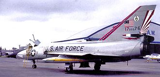 Griffiss Air Force Base - 49th FIS Convair F-106A Delta Dart, AF Ser. No. 59-0076, in Bicentennial markings, 1976