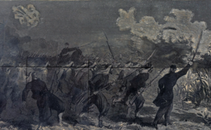 5th New York Volunteer Infantry - The charge of the 5th New York Volunteer Infantry unit at Big Bethel, in a sketch by Thomas Nast.