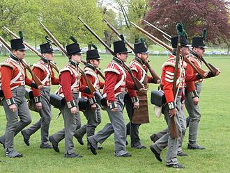 68th (Durham) Regiment of Foot (Light Infantry) - Re-enactors in the uniform of the 68th Regiment during the period of the Peninsular War