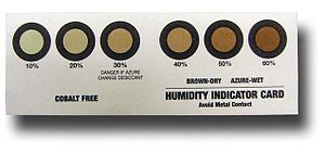 Humidity indicator card - Cobalt Free Humidity Indicator Card