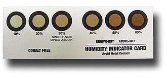 Humidity indicator card - Cobalt Free Humidity Indicator Card