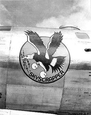 """869th Bombardment Squadron - """"Skyscrapper""""  869th Bomb Squadron Boeing B-29-40-BW Superfortress 42-24599, 1944"""