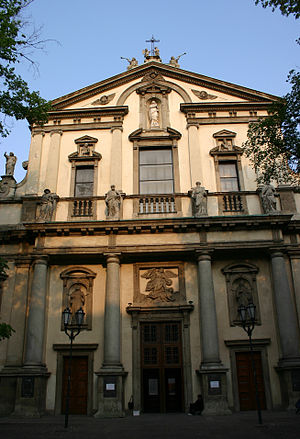 Sant'Angelo (Milan) - Façade of the church.