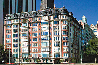 Housing cooperative - 999 N. Lake Shore Drive, a co-op owned residential building in Chicago, Illinois, United States.