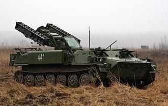9K35 Strela-10 - Image: 9A34 Strela 10 4th Separate Tank Brigade (4)