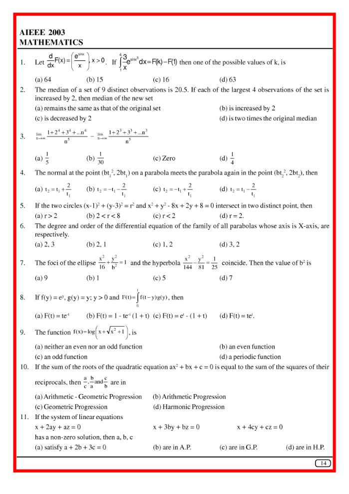 Question Bank For High School Science Mathematics