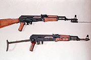 Type 56 and AKS-47.
