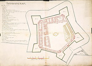Jaffna Fort - Map of the fort from 1693.