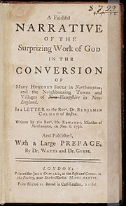 A Faithful Narrative of the Surprizing Work of God by Jonathan Edwards 1737