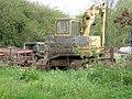 A Liebherr excavator parked up at Valley farm - geograph.org.uk - 1289461.jpg