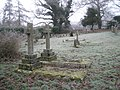A frosty churchyard at St Mary's, Newton Valence - geograph.org.uk - 1099829.jpg