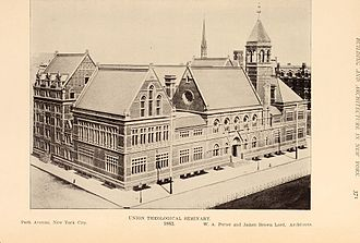 Union Theological Seminary (New York City) - 1893 campus, Park Avenue and 70th Street