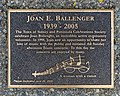 A plaque dedicated to Joan E. Ballenger by Sidney Amphitheatre, Beacon Park, Sidney, British Columbia, Canada 05.jpg