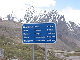 A road-sign on way to Khunjerab.jpg
