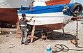 A work, peinture du barque.jpg