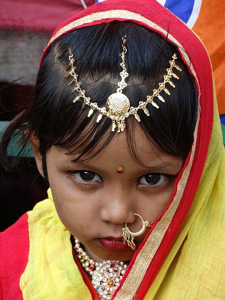 File:A young girl dressed in yellow to celebrate Vasant Panchami festival Kolkatta.jpg