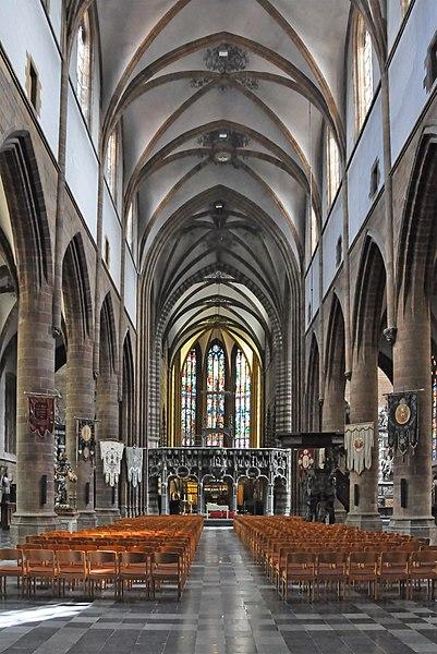 Aarschot (Belgium): interior of St Mary's church