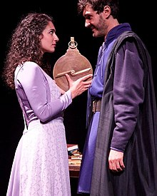Abelard, Heloise, and medieval astrolabe portrayed in Michael Shenefelt's stage play, Heloise (Source: Wikimedia)