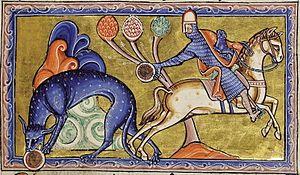 Aberdeen Bestiary - Folio 8 recto : Tiger (Tigris).