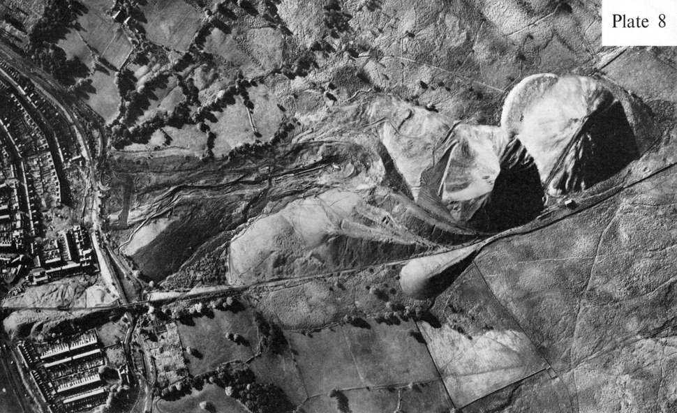 Aberfan spoil heaps post disaster
